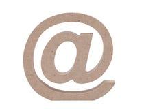 Bewaldetes E-Mail-Symbol Stockfoto