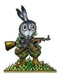 Bewapend en gevaarlijk stock illustratie