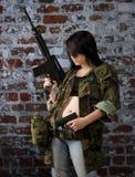 Bewapend en klaar Stock Foto's