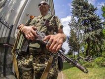 Bewapende crisis in de Oekraïne Stock Foto's