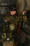 Bewapende gevechtsmilitair Stock Afbeelding