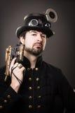 Bewapende stoom punkmens Royalty-vrije Stock Afbeelding