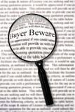 beware αγοραστής Στοκ εικόνα με δικαίωμα ελεύθερης χρήσης