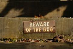beware σκυλί Στοκ εικόνα με δικαίωμα ελεύθερης χρήσης