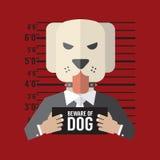 beware σκυλί Στοκ Φωτογραφίες