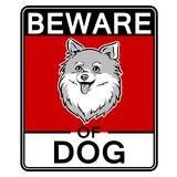 Beware της χαριτωμένης διανυσματικής απεικόνισης τέχνης σκυλιών λαϊκής Στοκ Εικόνες