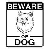 Beware του χαριτωμένου σκυλιού που χρωματίζει τη διανυσματική απεικόνιση Στοκ Φωτογραφία