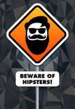Beware των hipsters! Στοκ φωτογραφία με δικαίωμα ελεύθερης χρήσης
