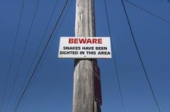 beware φίδια Στοκ Εικόνες