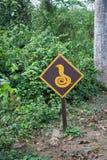 Beware знак змейки Стоковое Изображение RF