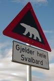Beware полярных медведей! Стоковое Изображение