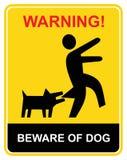 beware предупреждение собаки Стоковая Фотография