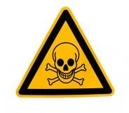 beware химический знак Стоковые Фото