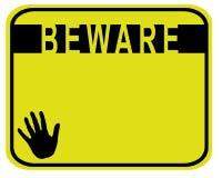 beware Стоковое Изображение