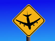 Beware airport sign Stock Images