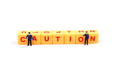 Beware of caution Royalty Free Stock Photos