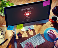 Beware Caution Dangerous Hacking Concept Stock Photography