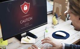 Beware Caution Dangerous Hacking Concept Stock Photos