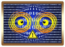 Beware of Computer Vision Syndrom Stock Image