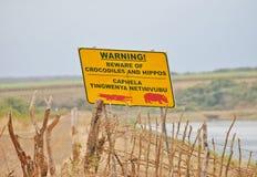 Beware of dangerous wildlife Royalty Free Stock Photos