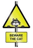Beware de kat Stock Foto's