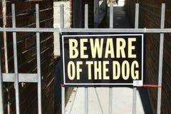 Beware do cão imagem de stock royalty free