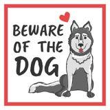 Beware do cão Fotografia de Stock Royalty Free