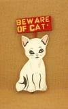 Beware do gato Imagem de Stock