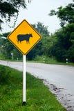 Beware do sinal da vaca. foto de stock royalty free
