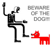 Beware of the dog! Royalty Free Stock Images