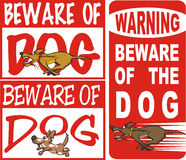 Beware of dog. Warning sign - dangerous guard dog guarding the property Royalty Free Stock Photos