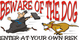 Beware of the dog Stock Images