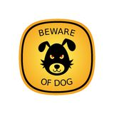 Beware of dog Stock Photo