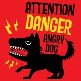 Beware of the Dog Stock Photo
