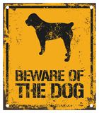 Beware of The Dog. Warning Board Stock Photos