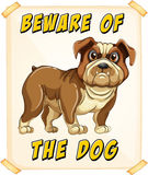 Beware of dog Stock Images