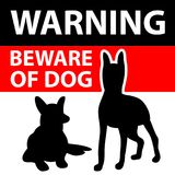 Beware of the dog sign. vector illustration