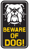 Beware of dog sign Royalty Free Stock Images