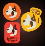 Beware of dog sign Royalty Free Stock Photos