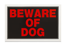Beware of Dog Sign Stock Images