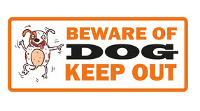 Beware of dog, sign vector Stock Image