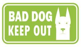 Beware of dog, sign vector Royalty Free Stock Photo