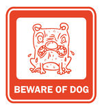Beware of dog, sign vector Royalty Free Stock Images