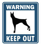 Beware of dog, sign vector Stock Images