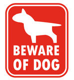 Beware of dog, sign vector Royalty Free Stock Image