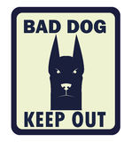 Beware of dog, sign vector Stock Photography
