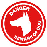 Beware of dog, sign vector Royalty Free Stock Photos
