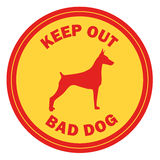 Beware of dog, sign vector Royalty Free Stock Photo