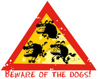 Beware of the dogs. Stock Photos