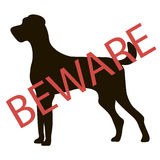 Beware Dogs Signs. Vector Royalty Free Stock Photography